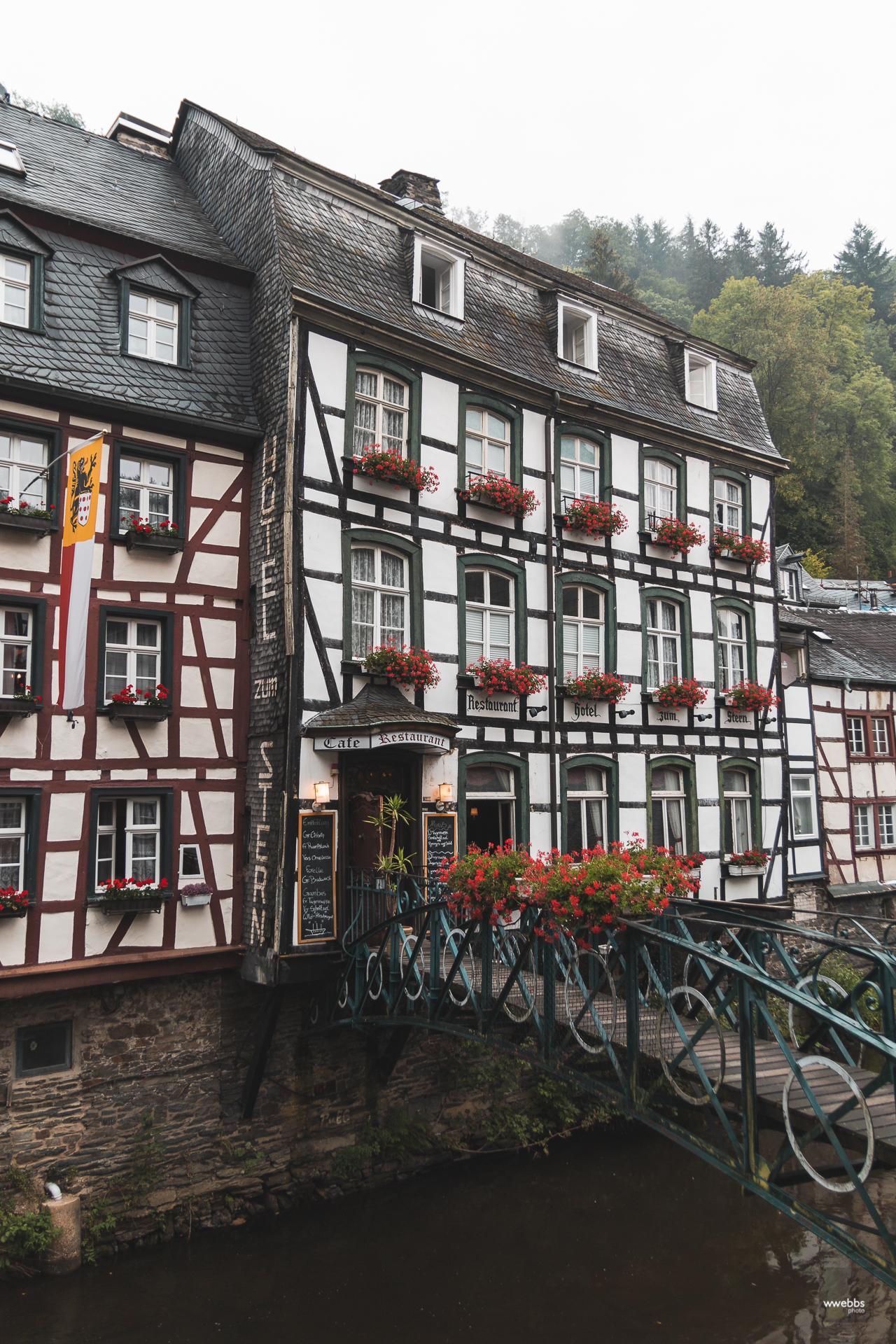 Typical Monschau hotel
