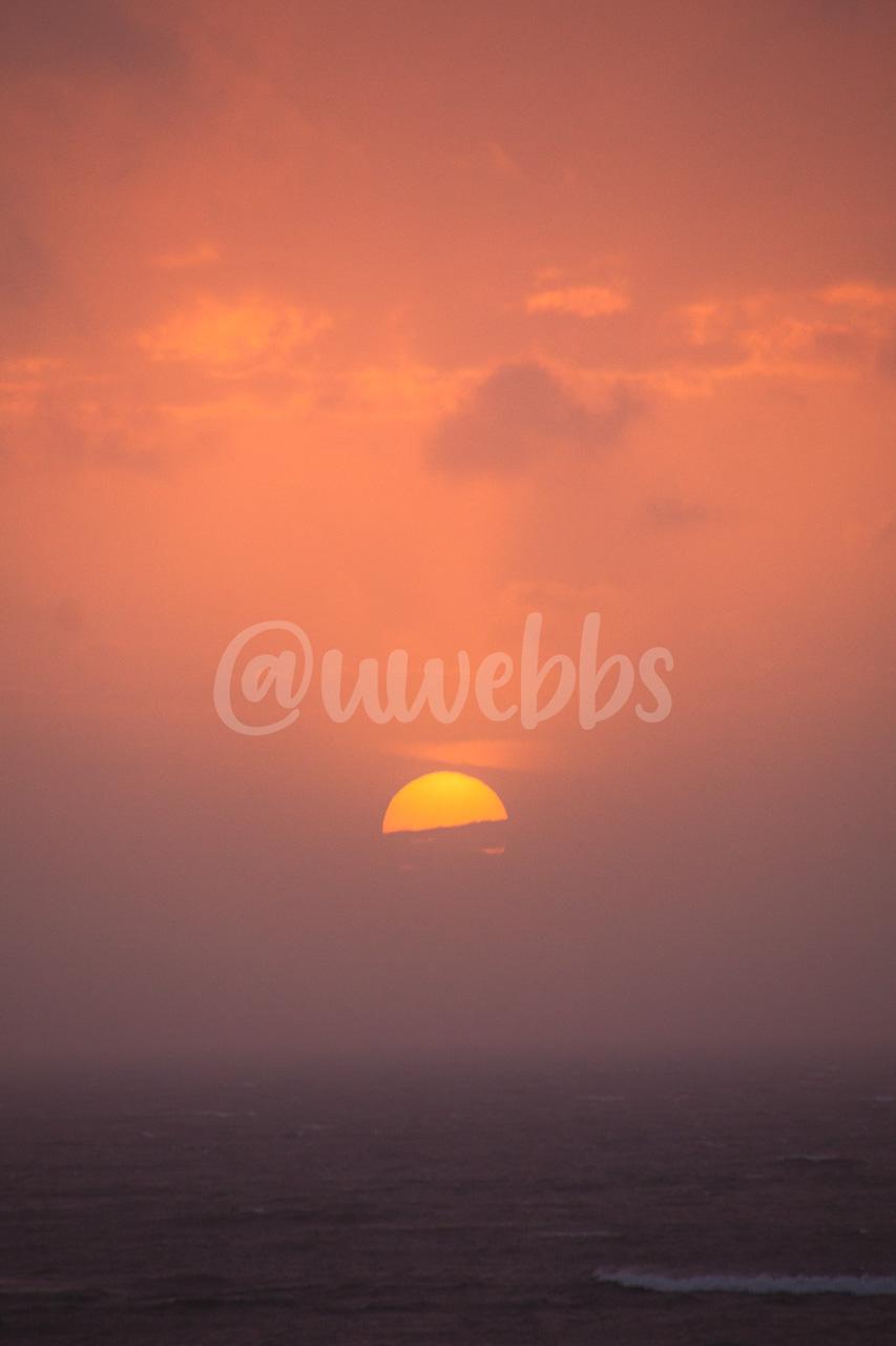 North Sea Hazy Sunset