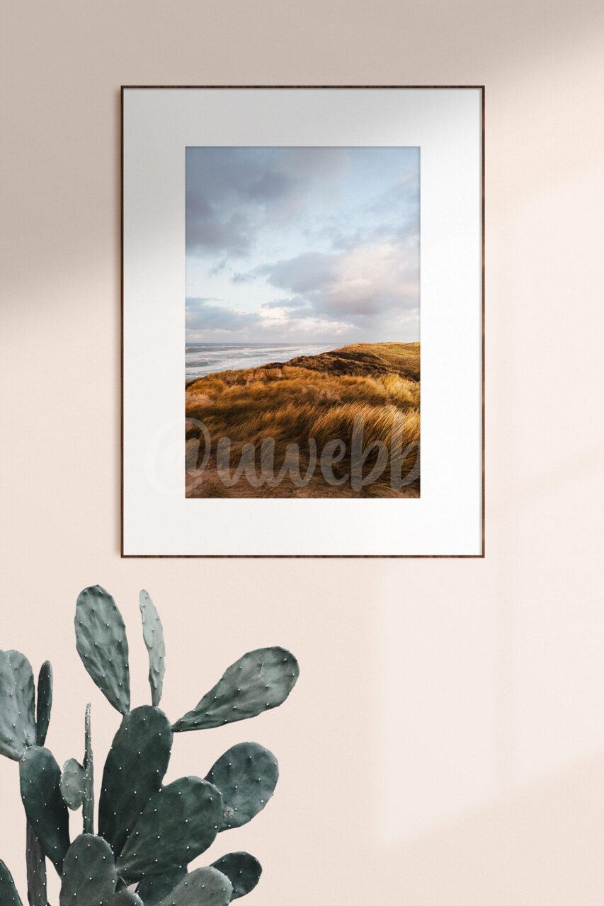 "Framed up ""Stormy Dunes"""